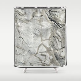 Bay of Fundy Rock No.1   Texture   Nadia Bonello   Canada Shower Curtain