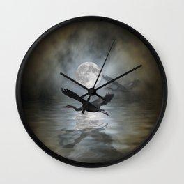 Heron Moon Wall Clock