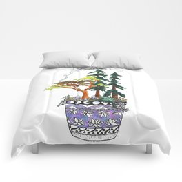 Forest Tree House - Woodland Potted Plant Comforters