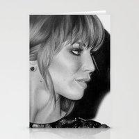 jennifer lawrence Stationery Cards featuring Jennifer Lawrence by Emma Porter