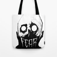 fear Tote Bags featuring Fear by Jonathan Silence