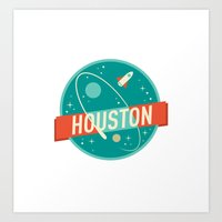 houston Art Prints featuring HOUSTON by Fedi