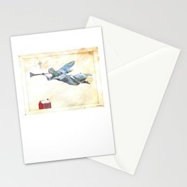 Angel and trumpet Stationery Cards