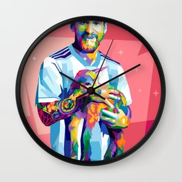 Lionel Messi  and The Pet Worldcup Series Wall Clock