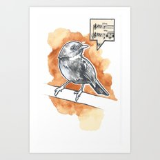 Little Song Bird Art Print