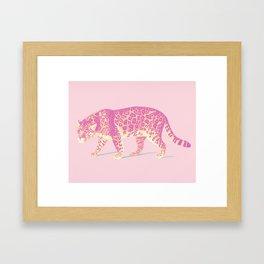 Pink Jaguar Painting Framed Art Print