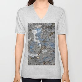 Wheelchair with a Friend Unisex V-Neck
