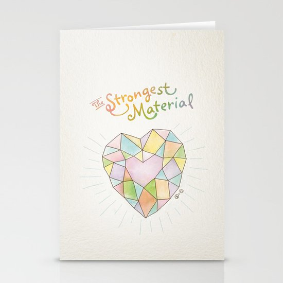 The Strongest Material Stationery Cards