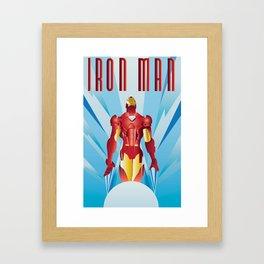 The Armored Avenger: Iron Man Framed Art Print