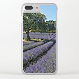 Lavender fields, Provence, France Clear iPhone Case