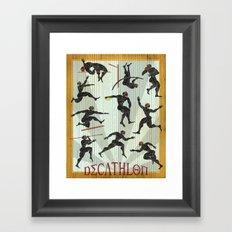 Decathlon Vertical Poster Framed Art Print