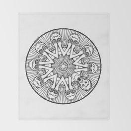 Weeping Angel Mandala Throw Blanket
