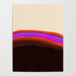 Orange, Purple, and Cream Abstract Poster