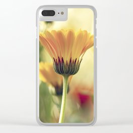 Yellow Summer Wildflower Clear iPhone Case