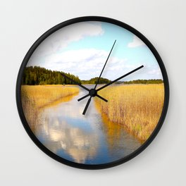 View From The Bridge - version #2 Wall Clock