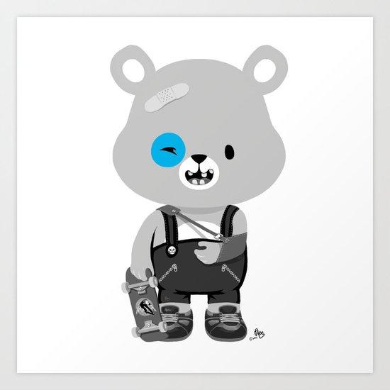 Bruised Bear Art Print
