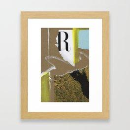 TYPE R Framed Art Print
