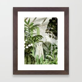 There's A Ghost in the Greenhouse Again Framed Art Print
