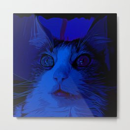 norwegian forest cat omg vector art moonlight Metal Print
