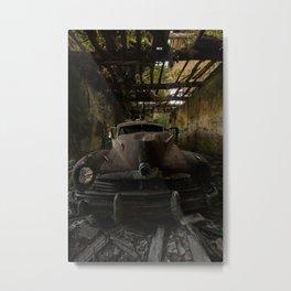 Gangster squad, abandoned old car Metal Print