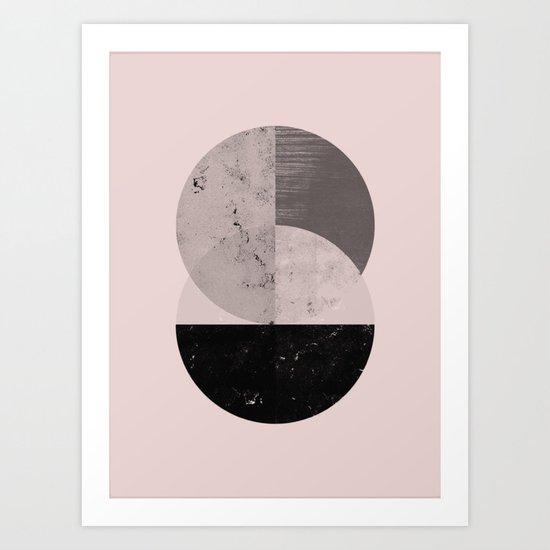 Two cycle geometric modern art Art Print