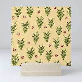 ananas leaves Mini Art Print