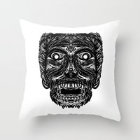 dracula Throw Pillows featuring Dracula by Jamie Bryan