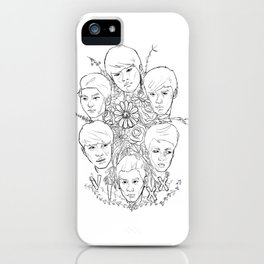 VIXX and Flowers iPhone Case