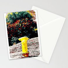 Yellow Fire Hydrant Comics Stationery Cards