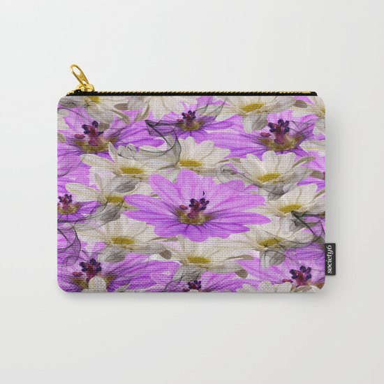 Floral Circle Abstract Carry-All Pouch