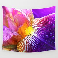 iris Wall Tapestries featuring Iris by Robin Curtiss