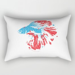 Betta Splendens T Shirt Bettas Siamese Fighting Fish Gift Rectangular Pillow