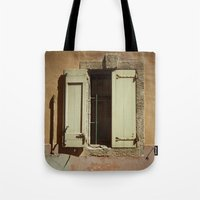 window Tote Bags featuring Window by Maria Heyens