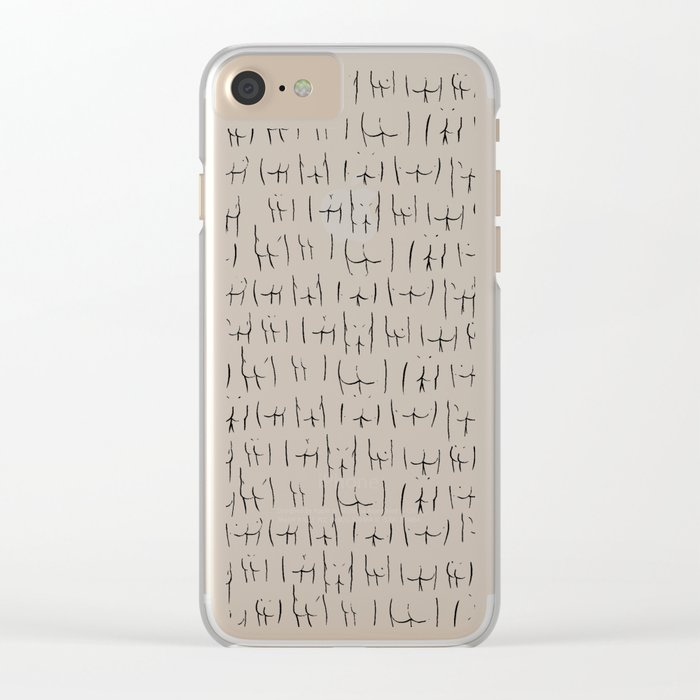 butts butts butts Clear iPhone Case