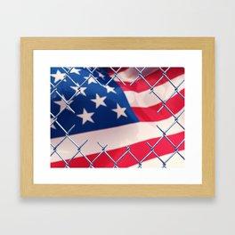 Illegal immigration concept Framed Art Print