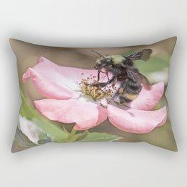 Bumble Bee on a Rose Rectangular Pillow
