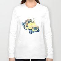 jeep Long Sleeve T-shirts featuring Animal Jeep by Claire Sianna