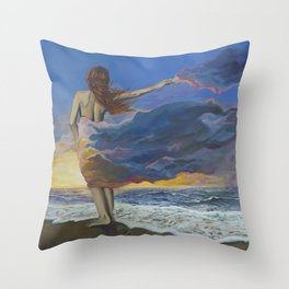 I Am The Storm Throw Pillow