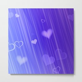 blue and heart Metal Print