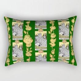 The Empress - A Floral Tarot Print Rectangular Pillow