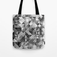 matrix Tote Bags featuring moon matrix by Kingu Omega