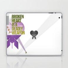 Broken Heart Is A Deadly Weapon Laptop & iPad Skin
