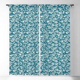 Ocean Barnacle in blue Blackout Curtain