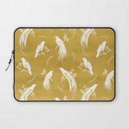 Birds of paradise mustard/white Laptop Sleeve