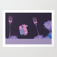 The Carrot Love Art Print