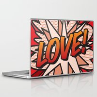 comic book Laptop & iPad Skins featuring Comic Book LOVE! by The Image Zone