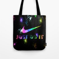 nike Tote Bags featuring NIKE by Bilqis
