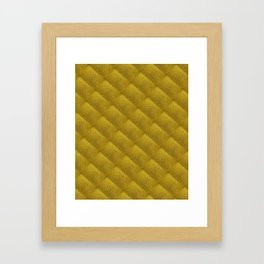 Gold Bars Pattern -Gold Lovers Design Framed Art Print