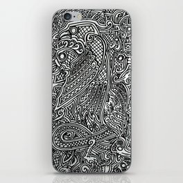 Norse doodle iPhone Skin