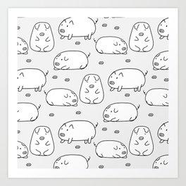 Cute Pig Art Print